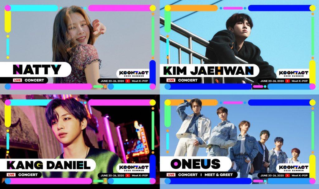 Natty, Kim Jaehwan, Kang Daniel e Oneus