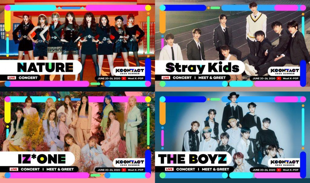 Nature, Stray Kids, IZ*ONE e The Boyz
