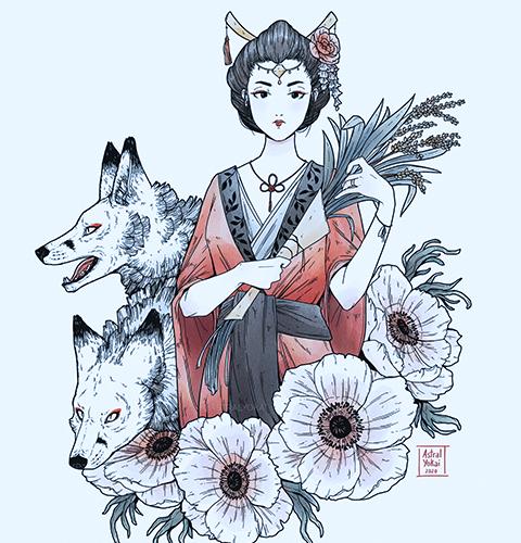 desenho de Inari